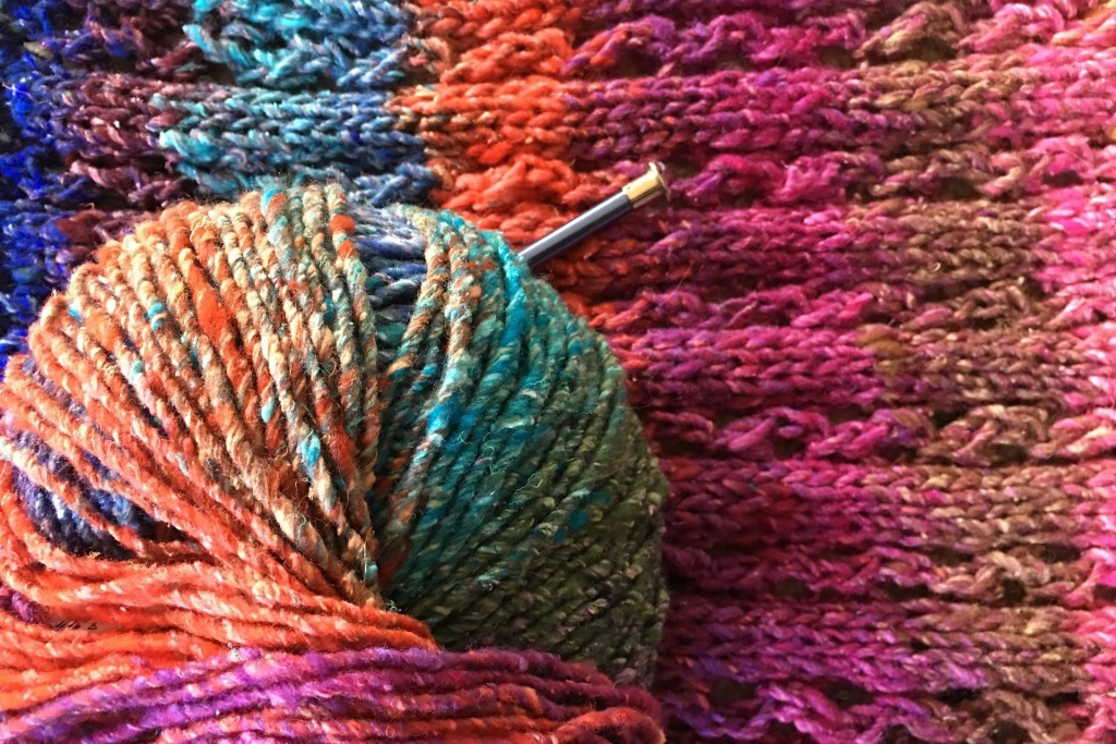 Knitting, Colourful, Yarn