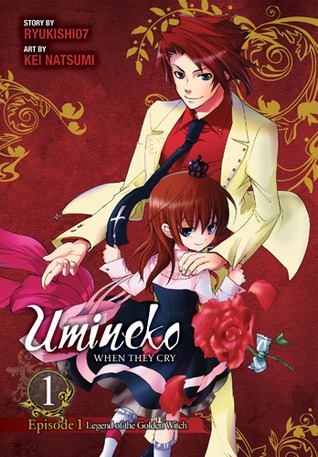Umineko WHEN THEY CRY, Umineko no Naku Koro ni, Ryukishi07, Kei Natsumi, Boy, Girl, Suit, Dress, Roses, Red, Gold, Patterns
