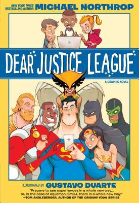 Gustavo Duarte, Michael Northrop, Dear Justice League, Yellow, Cyborg, Wonder Woman, Flash, Aquaman, Green Lantern, Hawkgirl, Batman, Superman,