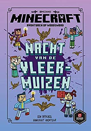 Nick Eliopulos, Luke Flowers, Nacht van de vleermuizen, Minecraft Woodsword Chronicles, Purple, Blue, Boys, Girls, Minecraft, Children's Books