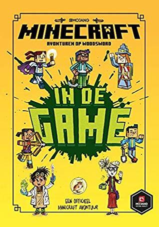 In De Game, Minecraft Woodsword Chronicles, Children's Book, Nick Eliopulos, Luke Flowers, Yellow, Green Letters, Boys, Girls