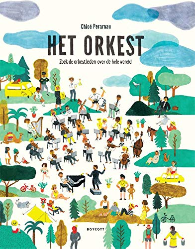 Het orkest, Chloe Perarnau, search-find book, People, Grass, Clouds, Children's books