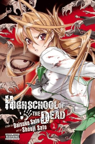 Highschool of the dead, School Uniform, Zombies, Manga, Blood, Daisuke Sato, Shouji Sato, Manga, Horror