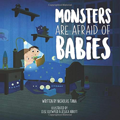 Monsters Are Afraid of Babies, Nicholas Tana, Blue, Monsters, Night, Bed, Bedroom, Boy, Girl, Picture Book