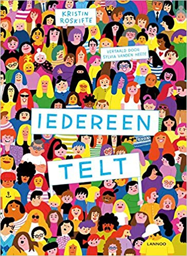 Iedereen telt, Kristin Roskifte, Search-Find-Book, Colourful, People, Heads, Signs