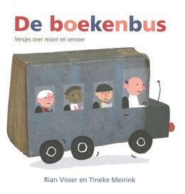 Tineke meirink, poems, bus, people, wheels, colourful letters,De boekenbus, Rian Visser,