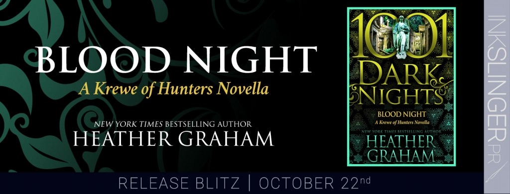 Blood Night, Banner, Dark, Black, Green, Heather Graham