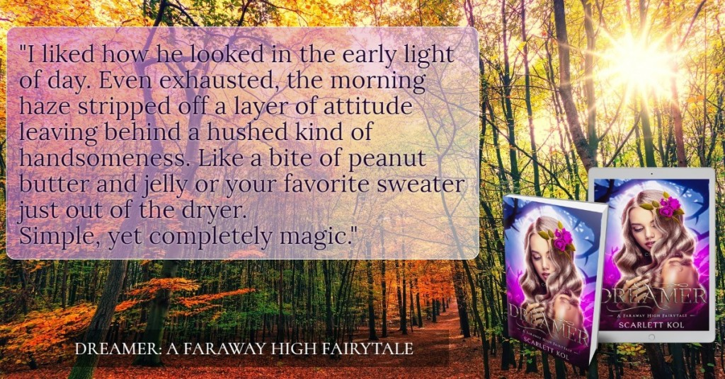 Book Teaser, Dreamer, Thorns, Blue, Purple, Girl, Blonde, Flower, Forest, Autumn