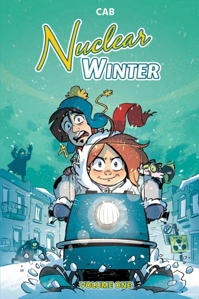 Nuclear Winter, Cab, Green, Blue, Snow, Snowmobile, Girl, Boy, Graphic Novel