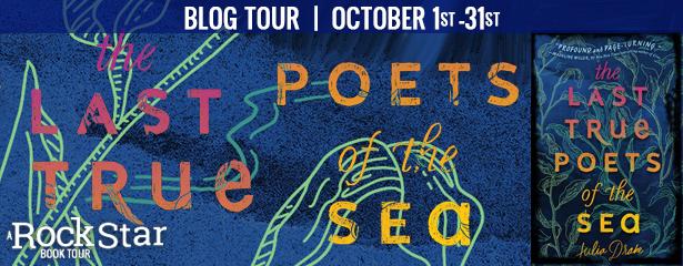 THE LAST TRUE POETS OF THE SEA, Julia Drake, Blue, Banner