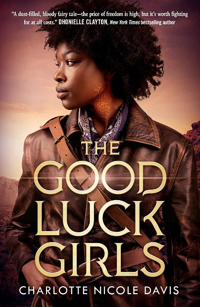The Good Luck Girls, Charlotte Nicole Davis, Red, Brown, Girl, Golden Letters,