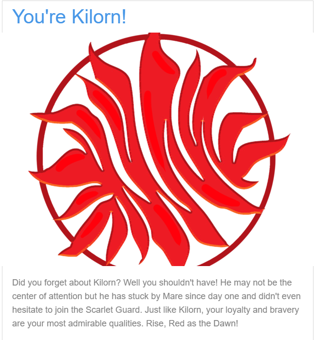 Quiz Result, You're Kilorn, Red Symbol