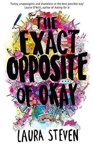 The Exact Opposite of Okay, Laura Steven, Izzy O'Neill, Colourful, Yellow, Blue, Red, Purple,