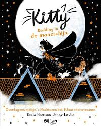 Kitty Redding in de maneschijn, Paula Harrison, Black, Stars, Moon, Nightsky, Rooftops, Cats, Girl, Superhero, Cute, Fog