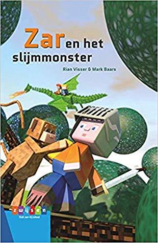 Zar en het slijmmonster, Game-lezen, Rian Visser, Mark Baars, Minecraft-esque, Knight, Monkey, Dragon, Trees, Sky, Clouds, Scenery