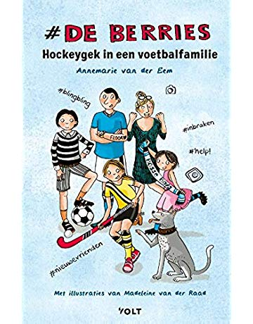 De berries, De berries - Hockeygek in een voetbalfamilie, Annemarie van der Eem, Blue, Boys, Girls, Dog, Hockey, Colourful