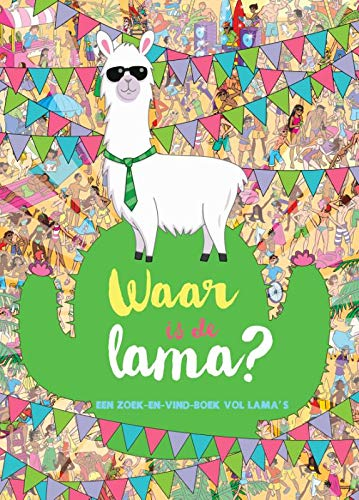 Waar is de lama, llama, cactus, Bunting, Humans, Scenery, Search Image, Fun, Colourful