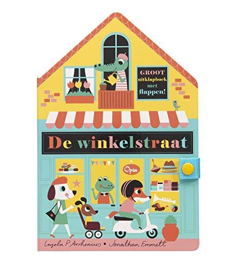 De winkelstraat, Jonathan Emmett, Ingela P. Arrhenius, Store, Shops, Awning, Animals, House, Colourful, Cover