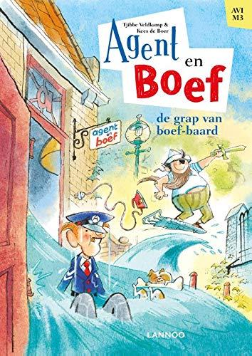 Agent & Boef - De grap van boef-baard, Agent & Boef, Tjibbe Veldkamp, Kees de Boer, Water, Scenery, House, Prison, Surfing, Pirates, Dog, Police, Cover Love, Cover, Children's Books