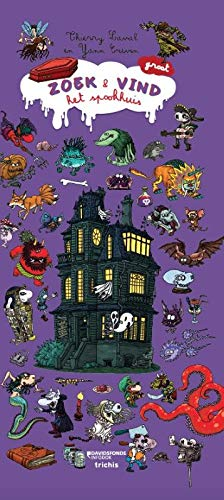 Zoek en vind in het spookhuis, Thierry Laval, Yann Couvin, Purple, Monsters, House, Spooky