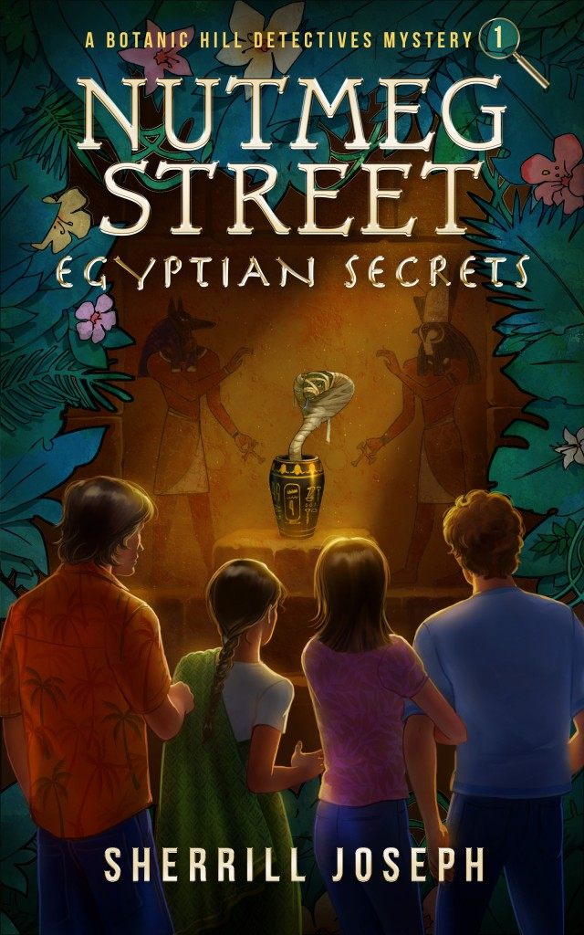 Anubis, Horus, Cobra, Mummy Snake,Leaves, Flowers, Hawaii Shirt, Colourful, Nutmeg Street: Egyptian Secrets, Boys, Girls, Urn,