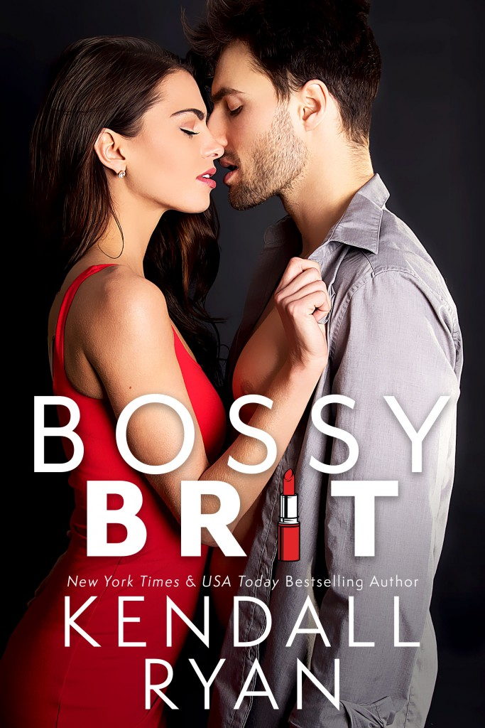 Kendall Ryan, Hugging, Red Dress, Bossy Brit, Romance, Black, Man, Woman, Cover