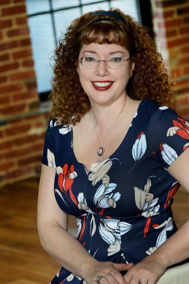 Christi Barth, Author, Photograph, Curls, Glasses, Smile