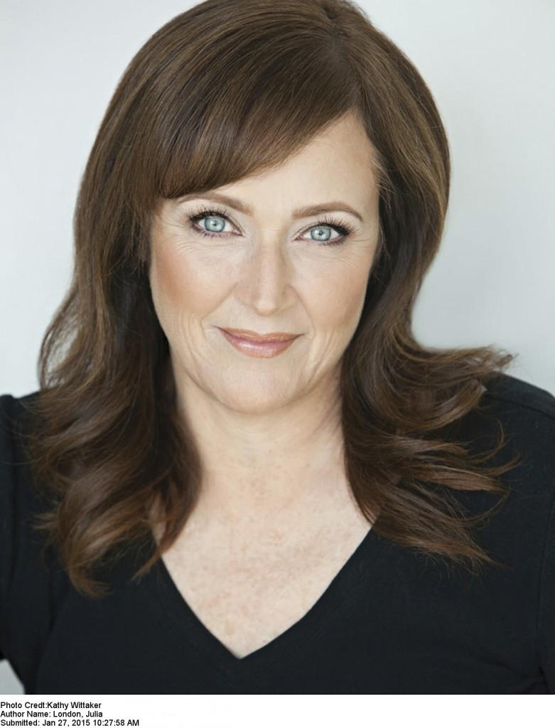 Julia London, Author, Brown Hair, Blue Eyes, Black Top, Photograph