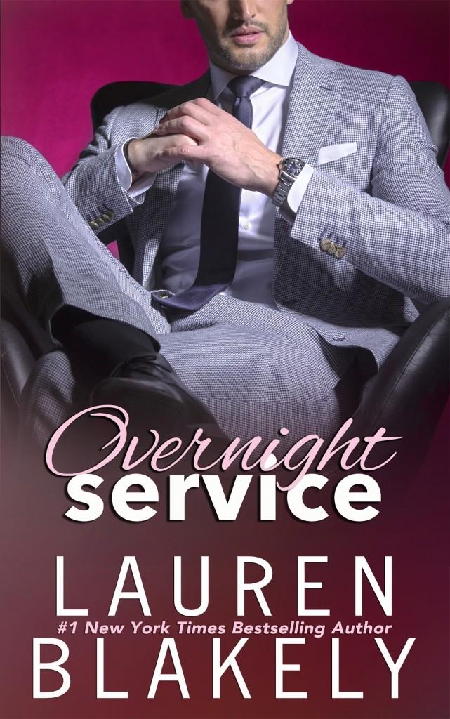 Overnight Service, Lauren Blakely, Suit, Guy, Dark, Cover
