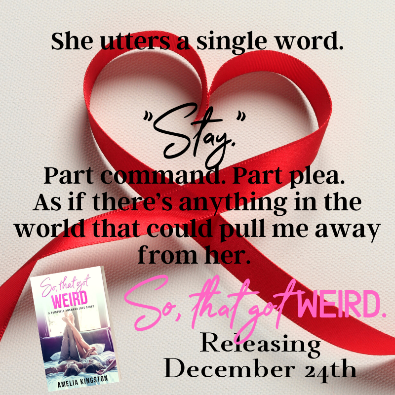 Ribbon, Heart, Red, Teaser, So That Got Weird, Amelia Kingston