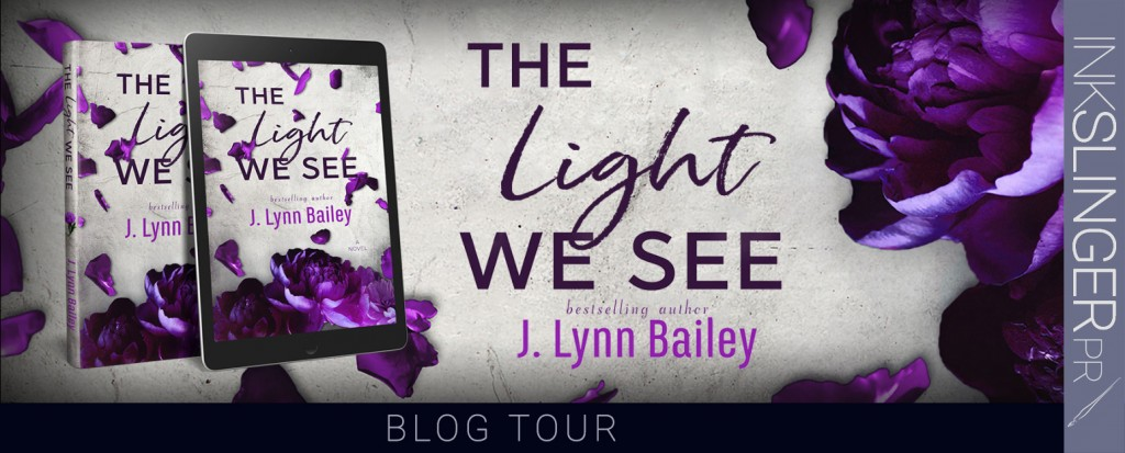 J. Lynn Bailey, Purple, Flowers, The Light We See, Cover, Banner, Petals