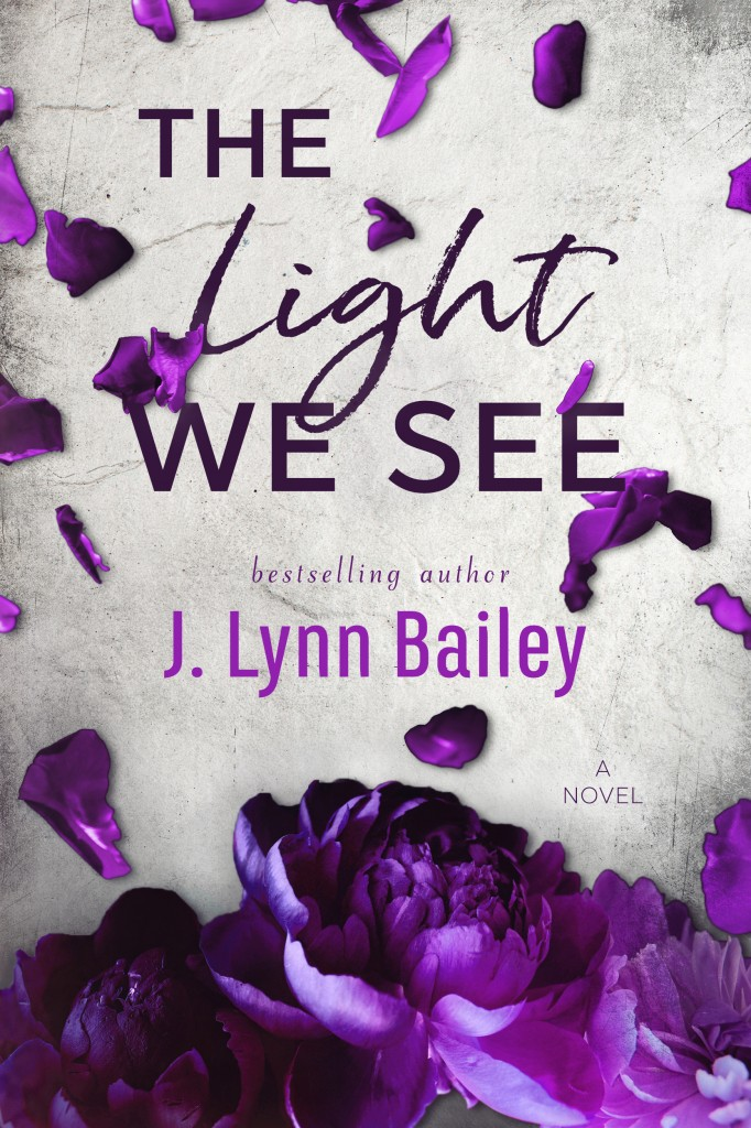 J. Lynn Bailey, Purple, Flowers, The Light We See, Cover, Petals