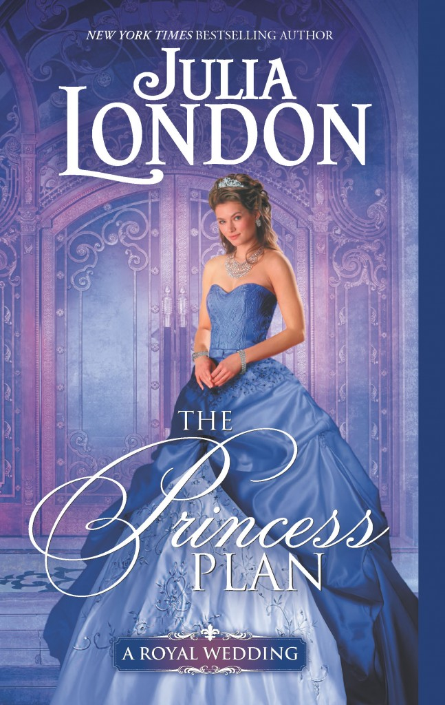 The Princess Plan, Julia London, Purple, Door, Jewellery, Blond Hair, Blue Dress, Embroidery, Cover, Banner