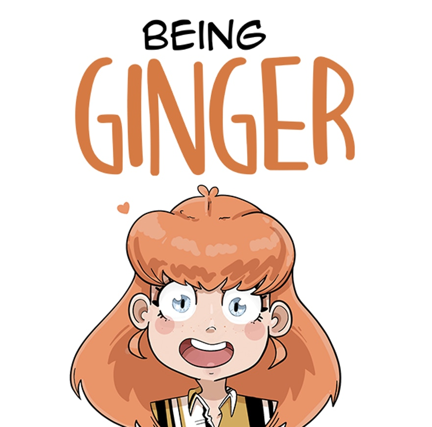 Being Ginger, Katherine Hemmings, Ginger, Girl, Red Hair, Blue Eyes, comics