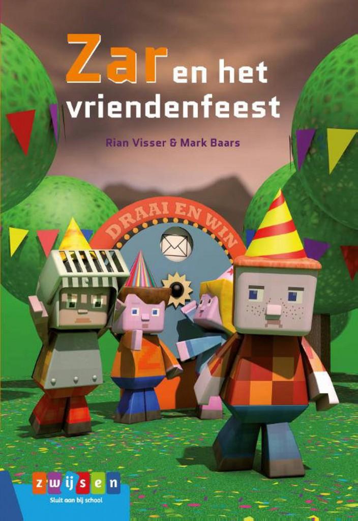 Zar en het vriendenfeest, Rian Visser, Mark Baars, Girls, Boys, Wheel of Fortune, Envelope, Scenery, Forest, Grass, Party Hats, Knight, Bunting