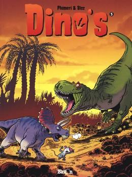 Dino's 5, Arnaud Plumeri, Bloz, Sunset, T-rex, Dinosaurs, Palm Tree, Roar, Comics