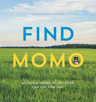 Find Momo: A Photography Book, Andrew Knapp, Sky, Dog, Grass, Yellow, Blue, Cover