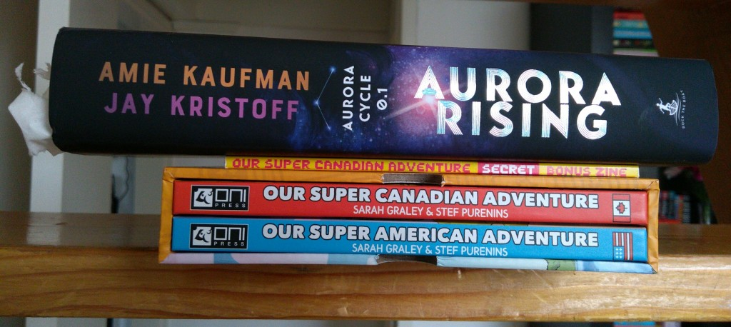 Books, Haul, Superadventure Sarah Graley, Aurora Rising