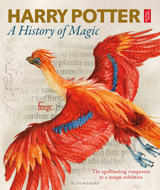 Harry Potter: A History of Magic, British Library, Phoenix, Magic, Harry Potter, J.K. Rowling, Red, Scroll, Golden/Blue Letters