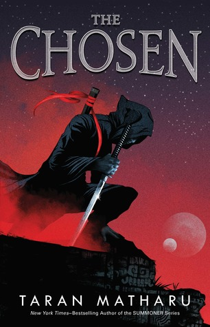 The Chosen, Taran Matharu, Red, Ninja, Sword, Moon, Planets, Night Sky, Cliff, Dark Clothes, Contender #1, Young Adult, Sci-Fi, Magic