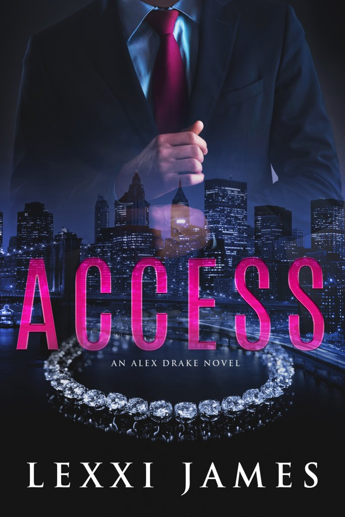 Access, Lexxi James, Alex Drake, Pink Letters, Diamond Necklace, Guy, Suit, City, Dark, Cover, Romance