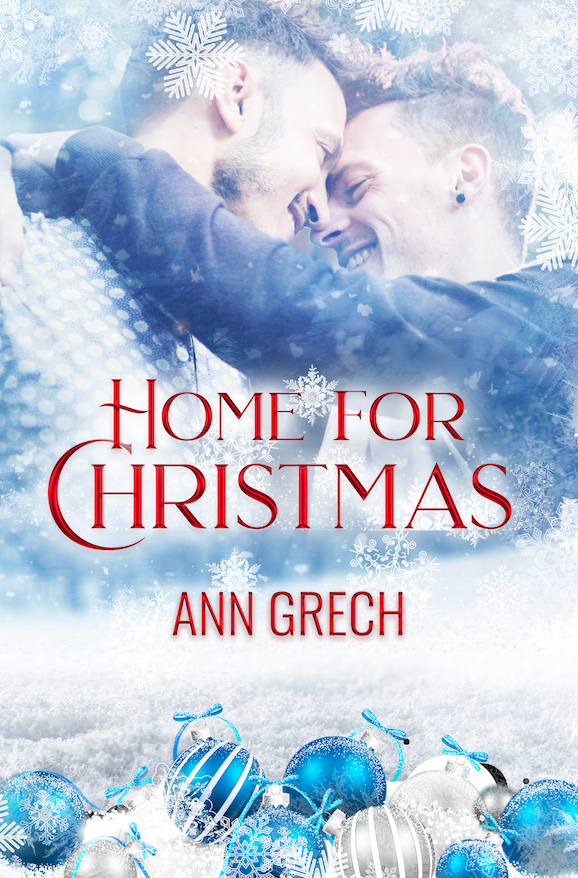 LGBT, Snowflakes, Cute, Christmas, Home For Christmas, Romance, White, Blue, Hugging, Romance Ann Grech