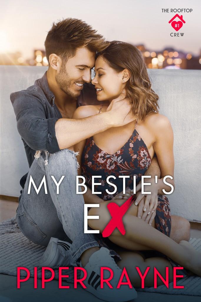 Hugging, Dress, Lights, Man, Woman, Jeans, My Bestie's Ex, Piper Rayne, Logo, Adult, Romance
