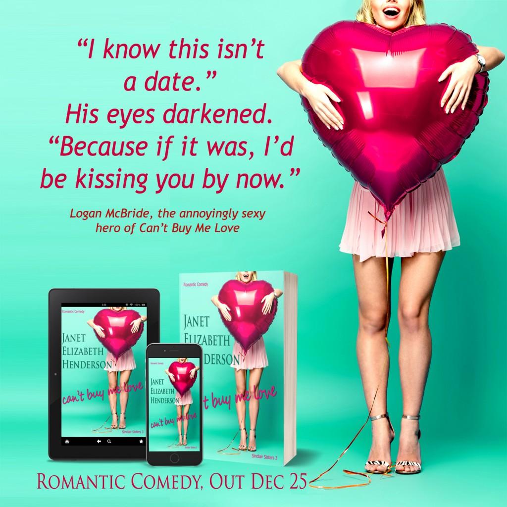 Can't Buy Me Love, Green, Heart, Girl, Banner, Romance, Janet Elizabeth Henderson, Teaser
