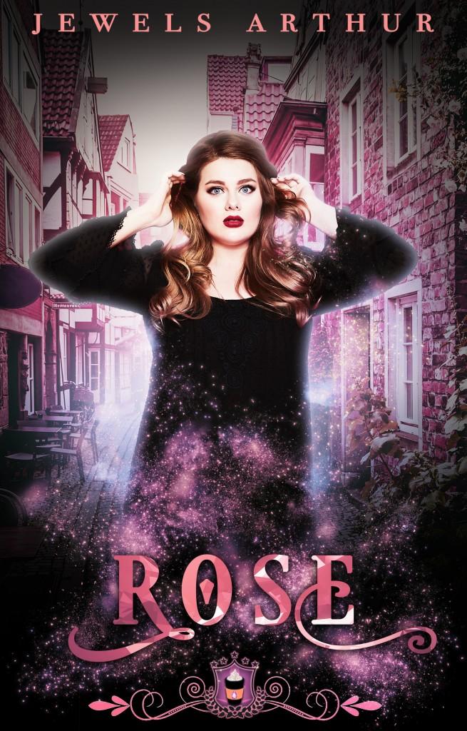 ROSE, Jewels Arther, Pink, Street, Houses, Cafe, Girl, Black Dress, Shocked Face, Sparkles, Pink Letters, Flowers, Reverse Harem
