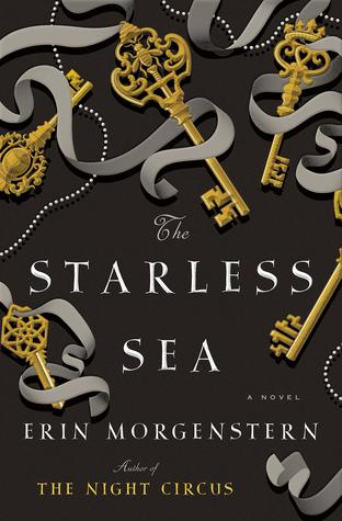 The Starless Sea, Erin Morgenstern, Keys, Ribbons, Golden, White Letters, Black Background, Adult, Fantasy
