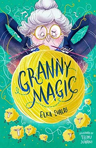 Granny Magic, Elka Evalds, Green, Yellow Ball of Yarn, Yarn, Old Lady, Knitting, Thread, Sheep, Children's Books, Magic