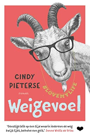 Weigevoel, Cindy Pieterse, Red, Goat, Glasses, Humour, Influencer, Instagram, Dutch, Funny