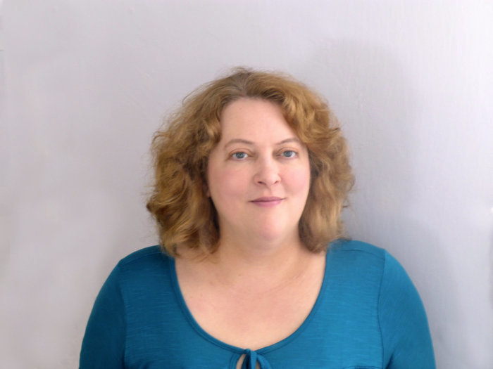 Anna Durand, Author, Blue Sweater