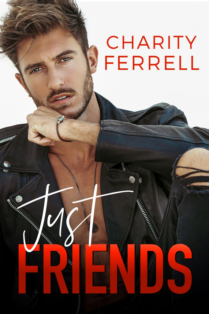 Just Be Friends, Guy, Beard/Moustache, Red Letters, Charity Ferrell, Cover, Romance